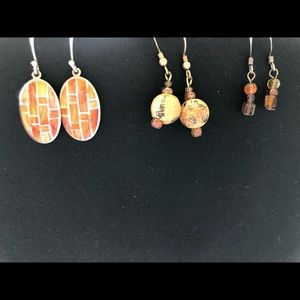 Jewelry - Set of three earrings